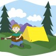 Camp songs — Stock Vector