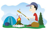 Camp Fire — Stock Vector