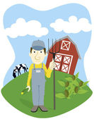 Farmer — Stock Vector