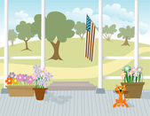 Front Porch — Stock Vector