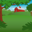 Red Barn — Stock Vector