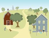 Farm village — Stock Vector