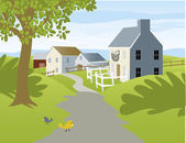Small Village — Stock Vector