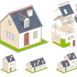 Isometric vector illustration of a house - Stok Vektör