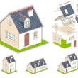 Vector de stock : Isometric vector illustration of house