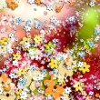 Ornamental colorful background, flowers — Stock Photo