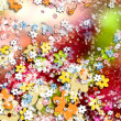 Stok fotoğraf: Ornamental colorful background, flowers