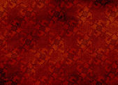 Chinese red textured pattern in filigree — Stock fotografie