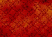 Chinese red textured pattern in filigree — Stockfoto