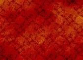 Kinesiska röda texturerat mönster i filigran — Stockfoto