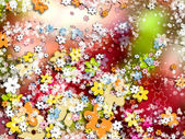 Fondo colorido ornamental, flores — Foto de Stock