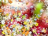 Ozdobne kolorowe tło, kwiaty — Zdjęcie stockowe