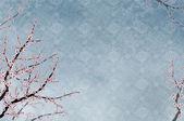 Ozdobny, wiśniowe drzewo, chiński wzór — Zdjęcie stockowe