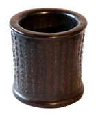 Chinese vinatge decorative pot in wood — Stock Photo