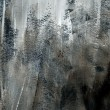 Stok fotoğraf: Dark grey background texture rough paint