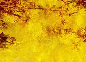 Tekstura tło żółty, czerwony, roślinne — Zdjęcie stockowe