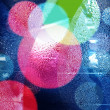 Abstract bokeh and droplets for colorful background — Stok fotoğraf