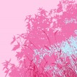 Colored landscape of foliage - Vector illustration - pink morning - Stock Photo