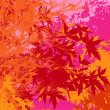 Colorful landscape of foliage - Vector pop illustration - Foto Stock