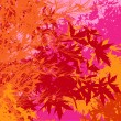 Colorful landscape of foliage - Vector pop illustration - 