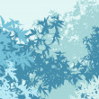 Colorful landscape of foliage in cold mist - Vector illustration - Stock Photo