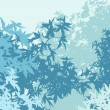 Colorful landscape of foliage in cold mist - Vector illustration - Foto Stock