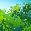 Stock Photo: Colorful landscape of summer foliage - Vector illustration