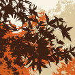 Foto de Stock  : Colored landscape of automn brown foliage - Vector illustratio