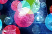 Abstract bokeh and droplets for colorful background — Stock Photo