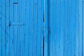 Staré brány v lese, modré malované pozadí — Stock fotografie