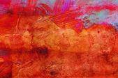 Pintura abstracta grunge - hecho a mano colorido wallpaper — Foto de Stock