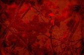 Kırmızı arka plan ile ağaçlar ve dalları - dokulu scrapbooking — Stok fotoğraf