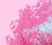 Colored landscape of foliage - Vector illustration - pink morning — Stock Photo