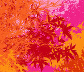 Colorful landscape of foliage - Vector pop illustration — Foto Stock