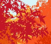 Paisaje colorido del follaje de otoño - ilustración vectorial — Foto de Stock