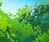 Yaz yeşillik - vektör çizim renkli manzara — Stok fotoğraf