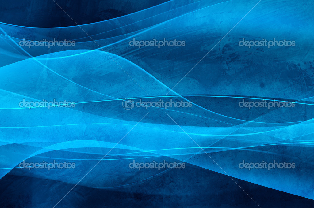 Abstract blue background, wave, veil and vevlet texture - computer generated picture  Stock Photo #3810577