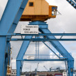 Port cranes on a dock in the port of Brest (France) — Foto de Stock