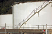Chemical Storage tanks at Seaview — Stock Photo
