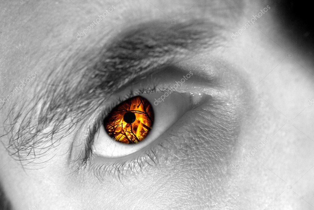 У тебя глаза как огонь
