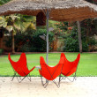Seats in a nice resort — Stock Photo