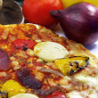 Pizza and ingredients close-up 2 — Stock Photo