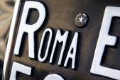 Roma plate — Stock Photo