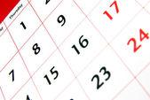 Detalhe do calendário 2 — Fotografia Stock