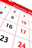 Calendario mese di gennaio — Foto Stock