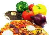 Pizza and ingredients 2 — Stock Photo