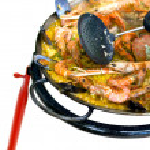 Cooking Spanish Paella — Stock Photo