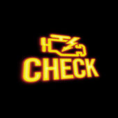 Check Engine Signal — Stock Photo
