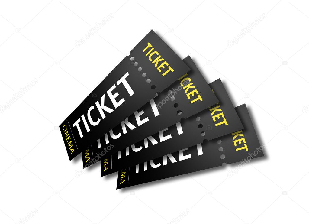 3D render of cinema tickets. — Stock Photo #3128507