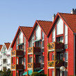 Stavanger Houses in the Lysefjord - Stock Photo